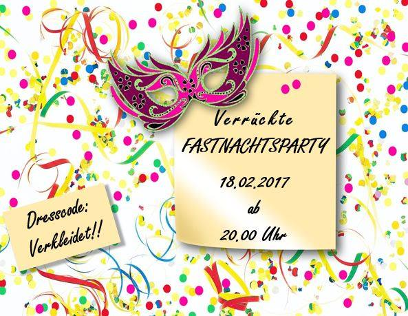 Kostüm-Party am Fastnachtsdienstag!!!